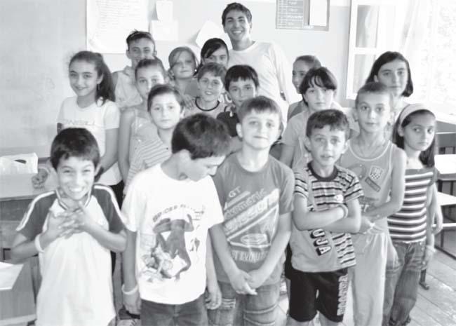 Peace Corps Volunteer Miles Vidreiro teaches in Republic of Georgia