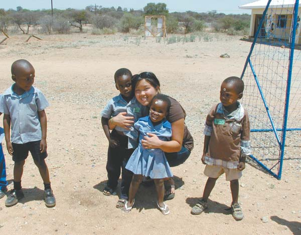 Nicole Nakama is educating people in Botswana about AIDS awareness and prevention during her two-year mission in the Peace Corps