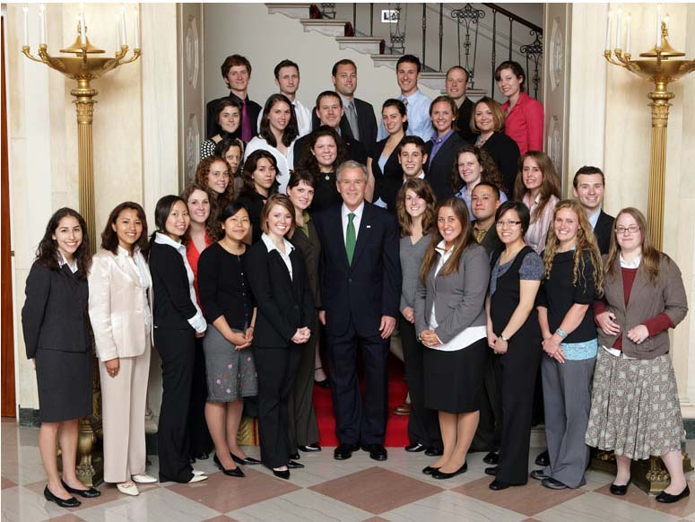 President Bush Hosts Peace Corps Volunteers at the White House