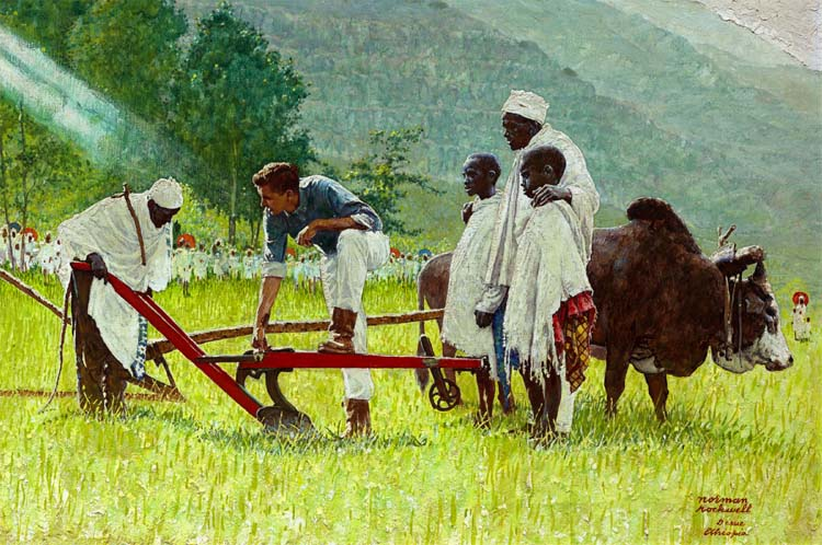 How Steven Spielberg ended up with the Normal Rockwell Painting The Peace Corps in Ethiopia