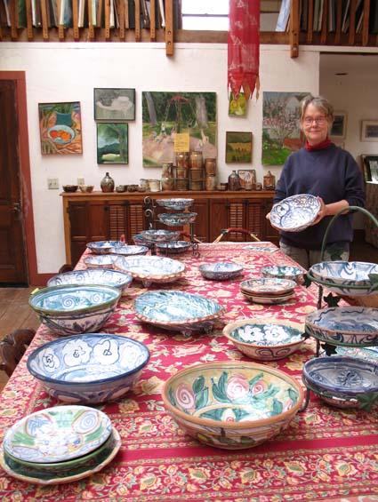 Peru RPCV Phoebe Wiley is one of the founding members of the Covered Bridge Artisans, and her Pottery at Long Lane Farm is a piece of paradise