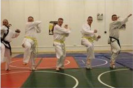 Mongolia RPCV Robert Carlson Earns Yellow Belt in Tae Kwon Do--in Iraq