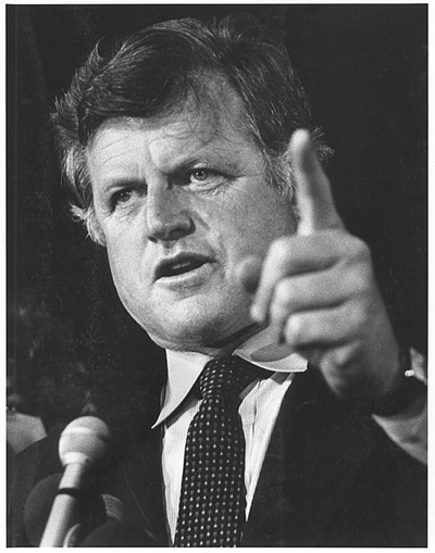 Ted Kennedy Kennedy promotes national service bill