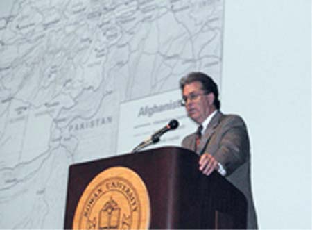Thomas Gouttierre spoke on Afghan terrorism on 9/11