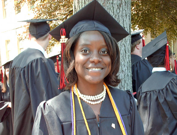 Cameroon Peace Corps Volunteer Gloria Twesigye has earned a prestigious Fulbright Scholarship to research Germany's efforts to rehabilitate former child soldiers from the Republic of Uganda