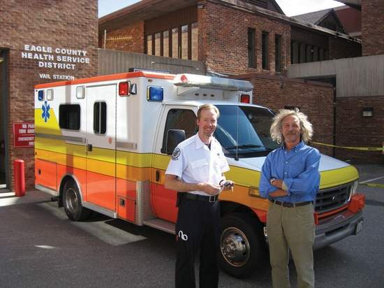 Peace Corps volunteer Reggie O'Brien needed an ambulance in Honduras, so of course local Rotarians in Vail Colorado had a ball finding one and shipping it to Central America