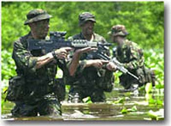 I have only found pics of royal marines wearing berets or bush hats when in  jungles or woodland and this would also distinguish them more as royal  marines. 87098204e4e